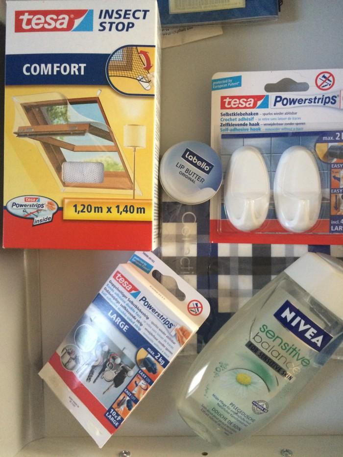 Allerlei von TESA und NIVEA als Entschädigung für etliche Mückenstiche