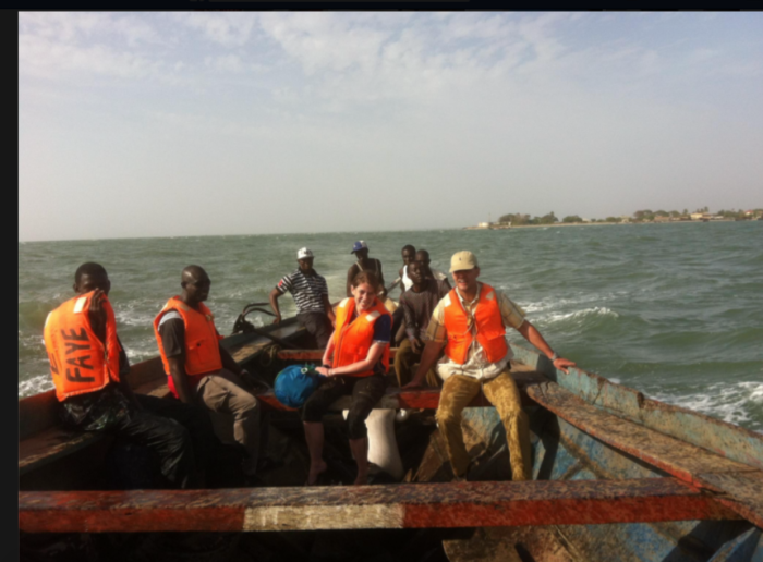 crossing river gambia