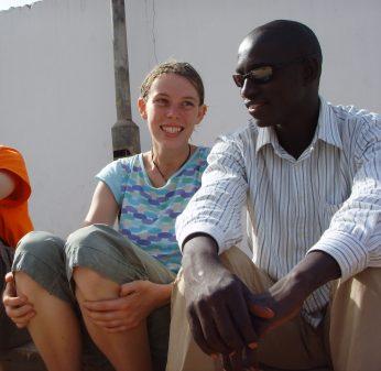 Lamin und ich in Gambia (2007)